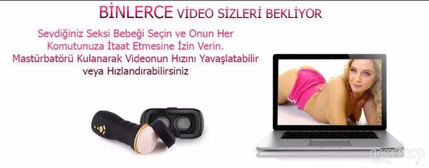 BKK Vr Gözlük Uyumlu,Uygulamalı ve Hareket Sensörlü Mastürbatör