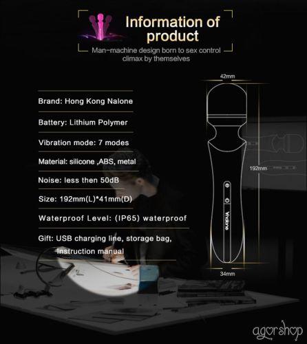 Nalone Rockit Dokunma Sensörlü Şarjlı Titreşimli Vibratör Masaj Aleti VS-VR60-1
