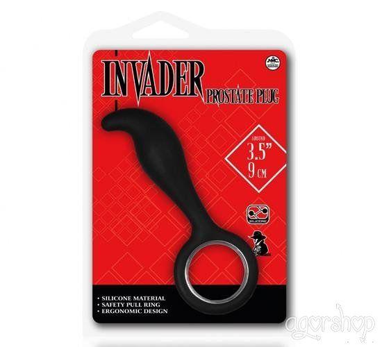 Invader Prostate Uyarıcı Plug Siyah  9 Cm Anal Tıkaç II