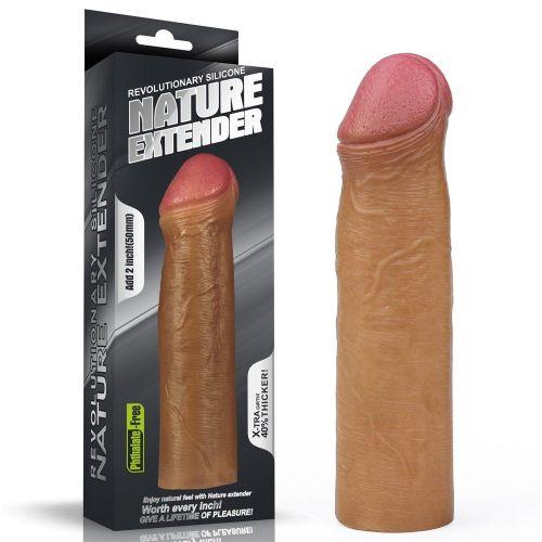 Lovetoy Nature Extender Flexible 5 cm Uzatmalı Melez Realistik Penis Kılıfı LV4213