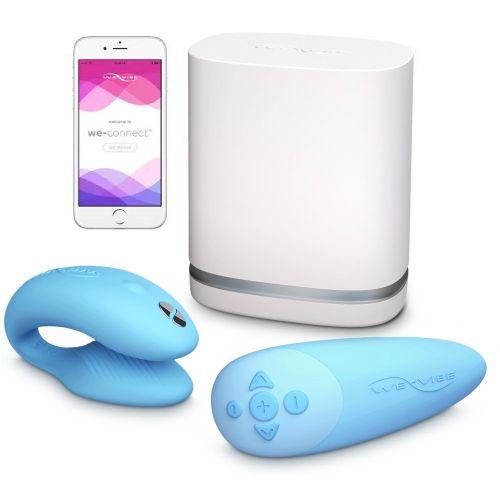 We-Vibe Chorus Yeni Nesil Akıllı Telefondan Kontrollü Çiftler İçin Mavi Vibratör